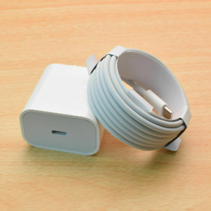 20W PD Fast Wall Charger USB-C to iPhone Cable US Plug For iPhone 12 11 Pro Max