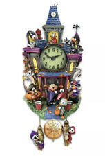 Disney Halloween Spooktacular Cuckoo Wall Clock Lights & Music Bradford Exchange