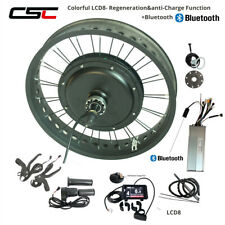 48V Electric Snow Bicycle Conversion Kit Fat 20 24 26 inch Rear Motor Wheel LCD3