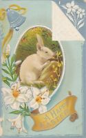 EASTER – Rabbit, Flowers and Bell - 1914
