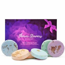 Cleverfy Aromatherapy Shower Steamers - Variety Set Of 6x Shower Bombs With Esse