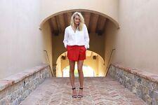Shakuhachi Faux Leather Wrap Shorts Red Size AU/UK10 US M NWOT   PX08