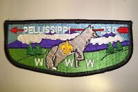 OA PELLISSIPPI LODGE 230 GREAT SMOKEY MOUNTAINS COUNCIL PATCH FOX SERVICE FLAP