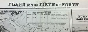 ADMIRALTY  SEA  CHART. FIRTH OF FORTH, DOCKS. No.137. FIFE. 1918 Edtn.