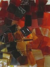Mosaic Glass: WARM COLOR MIX, 5 ounce Stained Glass pack (abt 100 hand cut pcs)