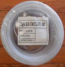 22g4c-SLD Solid Alarm Wire CM/CL2 500 feet White Burglar Wire New