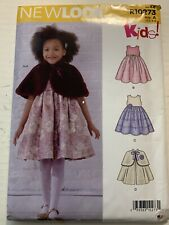 New Look Simplicity Sewing Pattern R10273 / N6631 Child's Dress & Cape Sz. 3-8