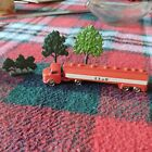 Lego Vintage Mercedes Esso fuel truck/lorry with 3 trees