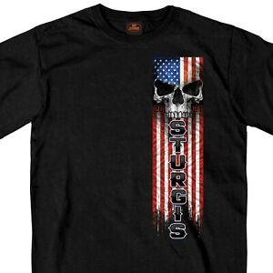 Sturgis Black Hills Rally 2021 Patriot Skull Motorcycle Biker T Shirt SPM1965
