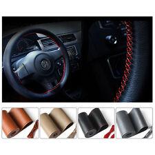 DIY Car Auto Steering Wheel Cover Leather Non-Slip 38cm /15'' w/ Needle Thread