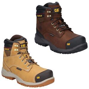 CAT Caterpillar Spiro Safety Boots Mens S3 Waterproof Steel Toe Work Shoes
