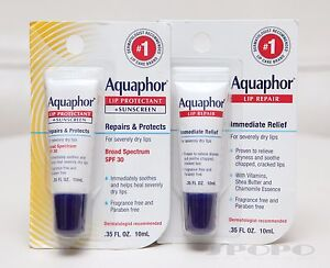 Aquaphor Lip Repair / Lip Protectant + Sunscreen SPF30 for Severely Dry Lips
