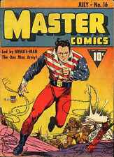 Master Comics #16 Photocopy Comic Book, Minute-Man, Bulletman