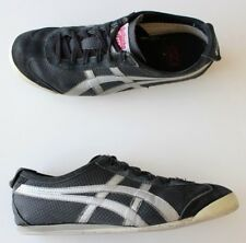 Used Onitsuka Tiger Mexico 66 Black Leather Sneakers Size US-7 Trainers EU-40