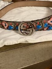 Gucci Kids Interlocking G Deer Print Belt Sz M Sold Out!