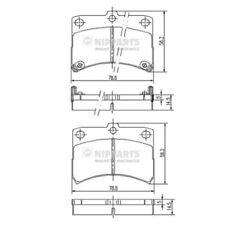 NIPPARTS Bremsbelagsatz Scheibenbremse J3606020 vorne für DAIHATSU CUORE 5 HIJET