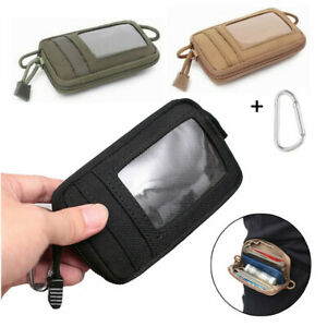 Waterproof Tactical EDC Pouch Portable Key Purse Coin ID Card Mini Wallet Mens