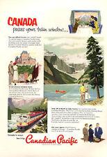 1953 Canadian National Railways PRINT AD Pacific Banff & Lake Louise Train