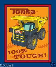 TONKA TOUGH FABRIC PANEL WALLHANGING QUILT TOP DISNEY FABRIC TRUCKS BTP NEW