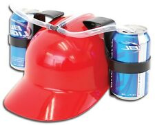 Red Beer Cola Can Drinking Helmet Holder Hat Stag Hen Party Do Disco Toys Games