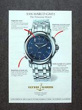 [GCG] K068- Advertising Pubblicità -1995- ULYSSE NARDIN , SAN MARCO GMT