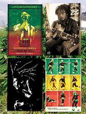 Four IIndividual Bob Marley Rasta Weed Jamaican Reggae Ska Posters Brand New