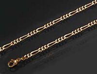AMD GOLD DOUBLE *** Figaro Armband Armkette 19-21 cm Figarokette vergoldet