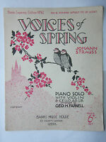 Johann Strauss - Voices Of Sping Music Sheet 1931
