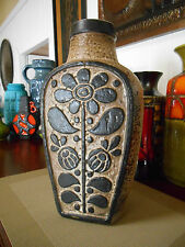 Retro 60's fat lava vase, vintage Carstens West German lounge dining bar pottery