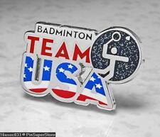 Olympic Pins Badge 2016 Rio De Janeiro Brazil Usa Usoc Icon Sport Badminton