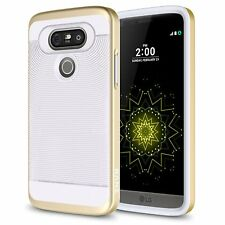 LG G5 Case, Textured Pattern Grip with PC Shock Proof Case + Screen Protector