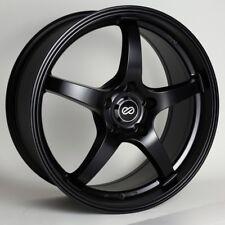 17x8 Enkei VR5 5x100 +45 Black Rims Fits Celica Impreza Wrx