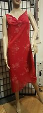 Byer Too! Red Floral Print Bodycon Backout Chiffon Layered Dress Size Large NWT