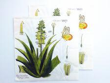 20 Vintage Paper Napkins Decoupage Green Tree Grass Butterfly Art Crafts Wedding