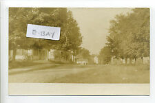 Georgetown MA Mass RPPC real photo street view, homes, antique postcard