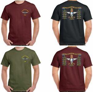 The Parachute Regiment T-Shirt Mens 1 2 3 4 Para Reg Paratrooper Battle Honours
