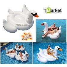 Giant Large inflatable Swan Raft Lake Float Pool Water Ocean River Toy Swim Ride