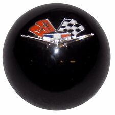 Black Chevy Flags Shift Knob w/ C5 Automatic Shifter Adapter U.S MADE