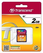 10 Pcs Transcend Secure Digital SD 2GB 2 GB Memory Card for Cameras BRAND NEW