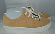 Mango Beige / cream Authentic Leather Sneakers UK 4 EU 37 used once