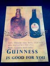 1953 Guinness Is Good For You -Irish Stout Pub Bar- Dublin Ireland Bottles Print