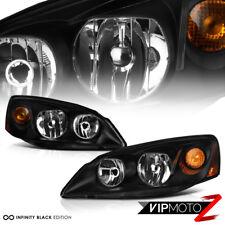 PAIR Black Driving Headlight Amber Corner Turn Signal Lamp For 05-10 Pontiac G6