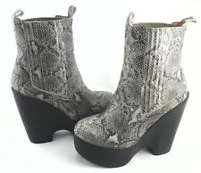 d86b93f763ba4 JEFFREY CAMPBELL Ankle Boots Platform Python Snake STEVIE Womens US 9 EU 39   249