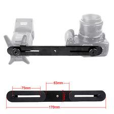 Dual Flash Bracket Mount Holder for Tripod Stand DSLR SLR Lens Common  Black