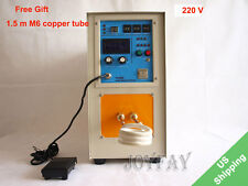 15KW 30-80 KHz High Frequency Induction Heater Furnace LH-15A 220 V welding Bras