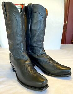 Lucchese 1883 Men's Bart Western Boots - Black 9.5 EE