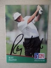 Raymond Floyd Autographed 1991 Pro Set Golf Card - Hall Of Famer