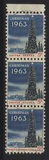 [JSC]1963 USA Christmas Tree 5c stamp x 3