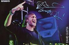 DAVID GUETTA - Autogrammkarte - Signed Autograph Autogramm Sammlung Clippings