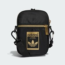Adidas Originals Festival Bags Messenger Shoulder Cross Bag Black/Gold GF3199